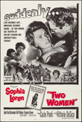 "Movie Posters:Foreign, Two Women (Embassy, 1960). Folded, Very Fine-. One Sheet (27"" X41""). Foreign.. ..."