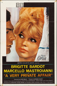 """A Very Private Affair (MGM, 1962). Folded, Fine/Very Fine. One Sheet (27"""" X 41""""). Foreign"""