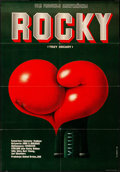 "Movie Posters:Academy Award Winners, Rocky (United Artists, 1978). Folded, Very Fine. Polish One Sheet (26"" X 37.25"") Edward Lutczyn Artwork. Academy Award Winne..."