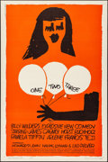"""Movie Posters:Comedy, One, Two, Three (United Artists, 1962). Folded, Very Fine. OneSheet (27"""" X 41""""). Saul Bass Artwork. Comedy.. ..."""