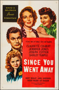 """Movie Posters:Drama, Since You Went Away (United Artists, 1944). Folded, Very Fine-. OneSheet (27"""" X 41""""). Drama.. ..."""