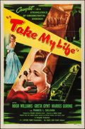 """Movie Posters:Mystery, Take My Life (Eagle Lion, 1948). Folded, Very Fine-. One Sheet (27""""X 41""""). Mystery.. ..."""