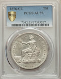 Trade Dollars, 1876-CC T$1 Type Two Reverse AU55 PCGS....