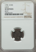 Early Half Dimes, 1795 H10C V-5, LM-8, R.3 -- Bent -- NGC Details. XF....