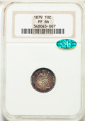 Proof Seated Dimes, 1879 10C F-102, R.3, PR66 NGC. CAC....