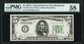 Fr. 1957-E $5 1934A Federal Reserve Note. PMG Choice About Unc 58
