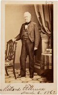 Photography:CDVs, Millard Fillmore Signed Carte de Visite....