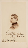 Photography:CDVs, George McClellan Carte de Visite Inscribed and Signed...