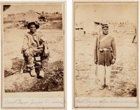 [Hubbard Pryor.] Samuel Pryor: Pair of Cartes de Visite of a Black Union Soldier
