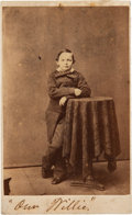 Photography:CDVs, Willie Lincoln Carte de Visite Signed by Mary Lincoln....