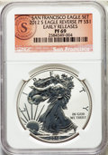 Modern Bullion Coins, 2012-W $1 Silver Eagle, San Francisco Eagle Set, Early Releases, PR70 Ultra Cameo NGC. This lot will also includes a: 2... (Total: 2 coins)