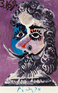 After Pablo Picasso Picasso: Marlborough Galleria d'Arte, Rome, poster, 1970 Lithograph in colors o