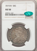 Bust Half Dollars: , 1819/8 50C Small 9 AU50 NGC. CAC. NGC Census: (12/103). PCGS Population: (38/95). CDN: $650 Whsle. Bid for problem-free NGC...