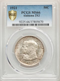 Commemorative Silver, 1921 50C Alabama 2x2 MS66 PCGS....