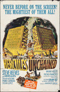 """Movie Posters:Action, Hercules Unchained (Warner Brothers, 1960). Folded, Fine/Very Fine.One Sheet (27"""" X 41""""). Action.. ..."""