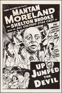 """Up Jumped the Devil (Toddy Pictures, R-1940s). Folded, Fine/Very Fine. One Sheet (27"""" X 41""""). Black Films"""