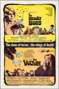 """Movie Posters:Horror, The Deadly Bees/The Vulture Combo (Paramount, R-1967). Folded,Fine/Very Fine. One Sheet (27"""" X 41""""). Horror.. ..."""