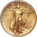 High Relief Double Eagles, 1907 $20 High Relief, Wire Rim -- Improperly Cleaned -- NCS. AU Details....