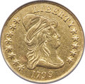 Early Eagles, 1799 $10 Large Obverse Stars, BD-10, R.3 -- Removed From Jewelry -- NCS. XF Details....