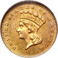 Gold Dollars, 1870-S $1 MS63 NGC....