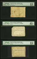 Colonial Notes:North Carolina, North Carolina July 14, 1760 20s PMG Choice Fine 15;. North Carolina April 23, 1761 15s PMG Choice Extremely Fine 45 Net;... (Total: 3 notes)