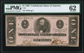 Confederate Notes:1862 Issues, T55 $1 1862 PF-2 Cr. 397 PMG Uncirculated 62.. ...