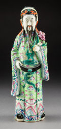 Ceramics & Porcelain:Chinese, A Chinese Famille Verte Enameled Porcelain Figure, late Qing Dynasty. 10-1/4 inches (26.0 cm). ...