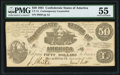 Confederate Notes:1861 Issues, CT14/75 Counterfeit $50 1861 PMG About Uncirculated 55.. ...