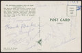 Autographs:Post Cards, 1959 Athletics vs. Pirates Hall of Fame Game Multi-Signed Postcard (9 Signatures)....