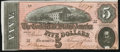 Confederate Notes:1864 Issues, T69 $5 1864 PF-9 Cr. 563 Choice About Uncirculated.. ...