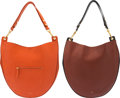 "Luxury Accessories:Bags, Celine Set of Two: Orange Hobo Bags. Condition: 2. 12"" Width x 14"" Height x 3.5"" Depth. ... (Total: 2 Items)"