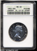 1953 50C Large Date Strap MS65 Prooflike ANACS....(PCGS# 32237)