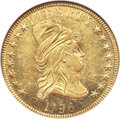 Early Eagles, 1796 $10 BD-1, R.4, AU58 NGC. CAC....