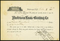 Obsoletes By State:New Hampshire, Wolfboro, NH- Wolfeboro Loan and Banking Co. Loan Agreement $200 Feb. 7, 1903.. ...