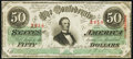 Confederate Notes:1863 Issues, T57 $50 1863 PF-5 Cr. 410 Fine-Very Fine.. ...