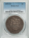 1893-CC $1 Fine 15 PCGS. PCGS Population: (364/6385). NGC Census: (165/3218). CDN: $320 Whsle. Bid for problem-free NGC/...