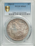 Morgan Dollars, 1903-O $1 MS65 PCGS. PCGS Population: (2610/886 and 75/83+). NGC Census: (1421/399 and 21/12+). CDN: $550 Whsle. Bid for pr...