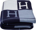 "Luxury Accessories:Home, Hermès Navy Blue & Ecru Avalon Blanket. Condition: 1. 53"" Width x 67"" Length. ..."