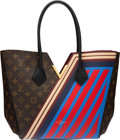 "Luxury Accessories:Bags, Louis Vuitton Limited Edition Monogram Coated Canvas & Red and Blue Striped Leather Kimono Tote Bag. Condition: 2. 14""..."