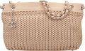 "Luxury Accessories:Bags, Chanel Light Beige Woven Caviar Leather Shoulder Bag. Condition: 1. 14"" Width x 8"" Height x 5"" Depth. ..."