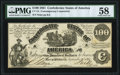 Confederate Notes:1861 Issues, CT13/57A-1 Contemporary Counterfeit $100 1861 PMG Choice About Uncirculated 58.. ...