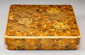 Decorative Accessories:Japanese, A Japanese Gold Maki-e Lacquered Wood Suzuribako with Accessories in Original Wood Case. 2 x 8-3/4 x 8-1/4 inches (5.1 x 22....