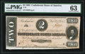 Confederate Notes:1864 Issues, T70 $2 1864 PF-5 Cr. 567 PMG Choice Uncirculated 63.. ...