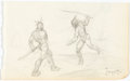 Original Comic Art:Sketches, Frank Frazetta The Chessmen of Mars Sketchbook Original Art (c. 1950-60s)....