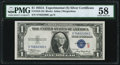 Small Size:Silver Certificates, Fr. 1610 $1 1935A S Silver Certificate. PMG Choice About Unc 58.. ...