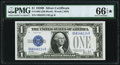 Small Size:Silver Certificates, Fr. 1602 $1 1928B Silver Certificate. PMG Gem Uncirculated 66 EPQ*.. ...