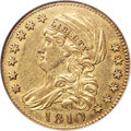 Early Half Eagles, 1810 $5 Large Date, Large 5, BD-4, R.2, AU55 NGC....