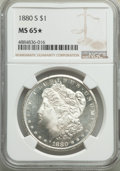 1880-S $1 MS65★ NGC. NGC Census: (35036/15401 and 539/635*). PCGS Population: (37656/13763 and 539/635*). MS65. Mintage...