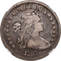 Early Dollars, 1797 $1 9x7 Stars, Large Letters, B-1, BB-73, R.3, VF30 NGC....