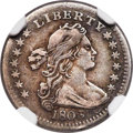 Early Half Dimes, 1803 H10C Large 8, V-2, LM-3, R.3, VF30 NGC....